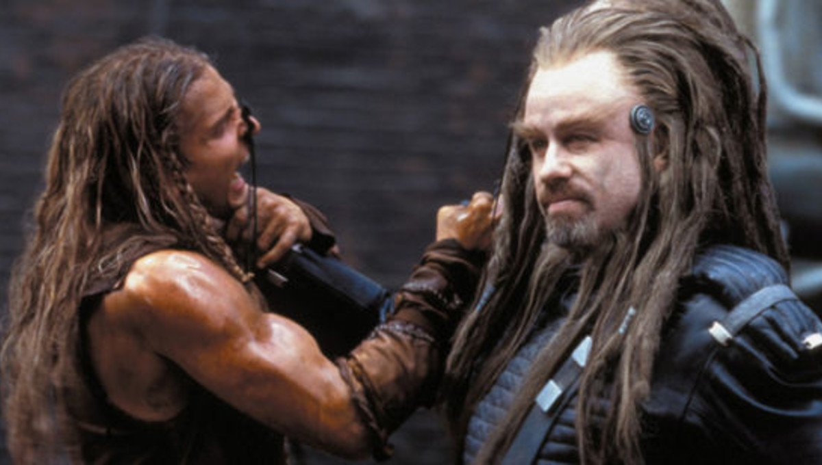 John Travolta hams it up an alien overlord in the absurd science fiction adventure based on the novel by L. Ron Hubbard, one of the worst films ever made