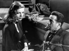 Lauren Bacall and Humphrey Bogart in the 1946 film noir classic directed by Howard Hawks