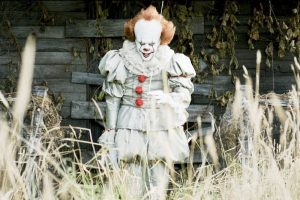 Bill Skarsgård as Pennywise in the horror movie hit adapted from the Stephen King novel