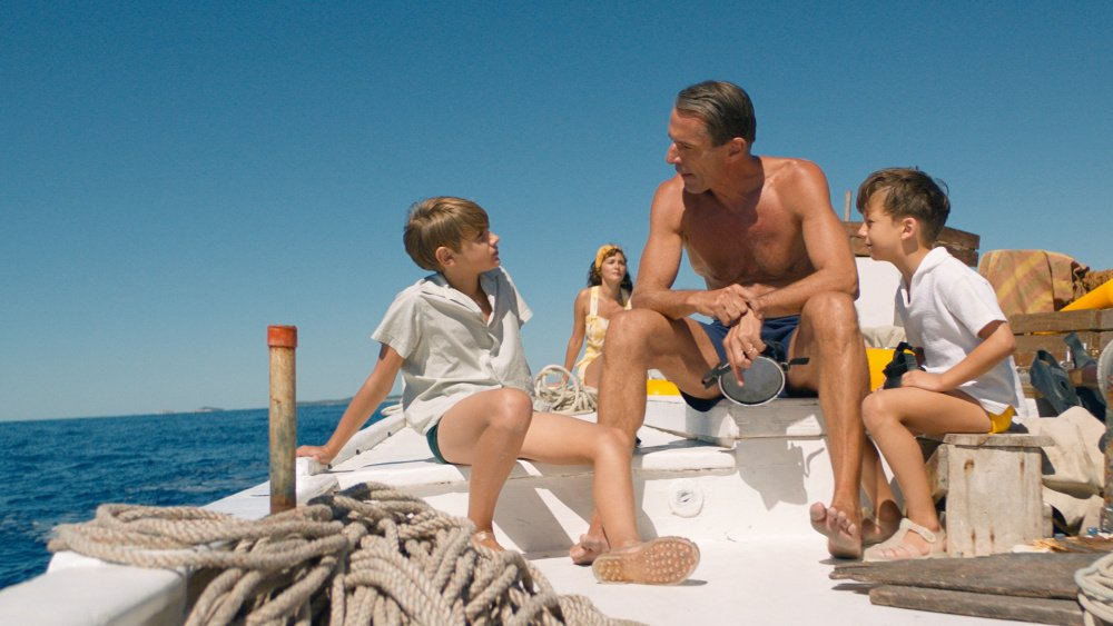 Lambert Wilson as Jacques Cousteau in the film by Jérôme Salle