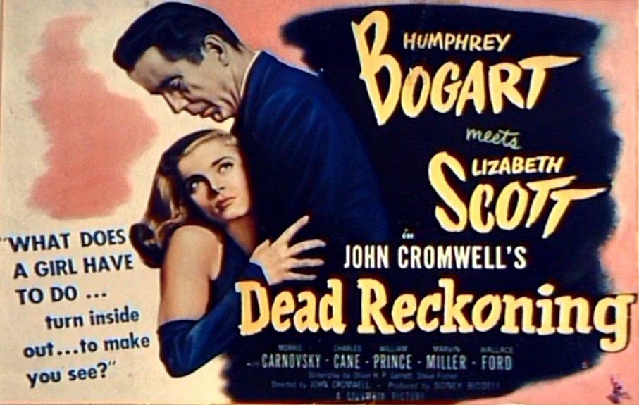 Humphrey Bogart and Lizbeth Scott star in the 1947 film noir directed by John Cromwell