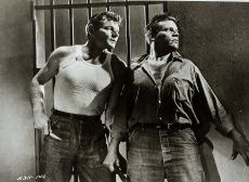 Leo Gordon and Neville Brand in the prison drama by Don Siegel