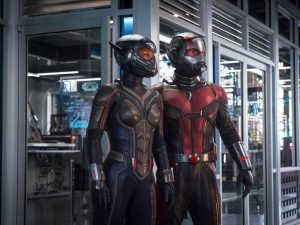 Evangeline Lilly and Paul Rudd in the Marvel movie directed by Peyton Reed