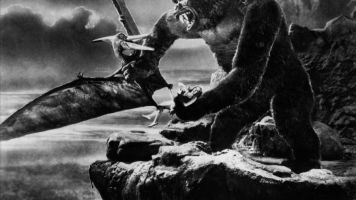 Fay Wray in the ape's paw in the original 1933 classic