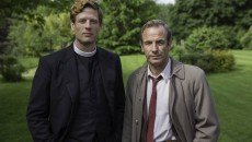 James Norton and Robson Green in the ITV mystery series 'Grantchester,' shown in the U.S. on Masterpiece Mystery