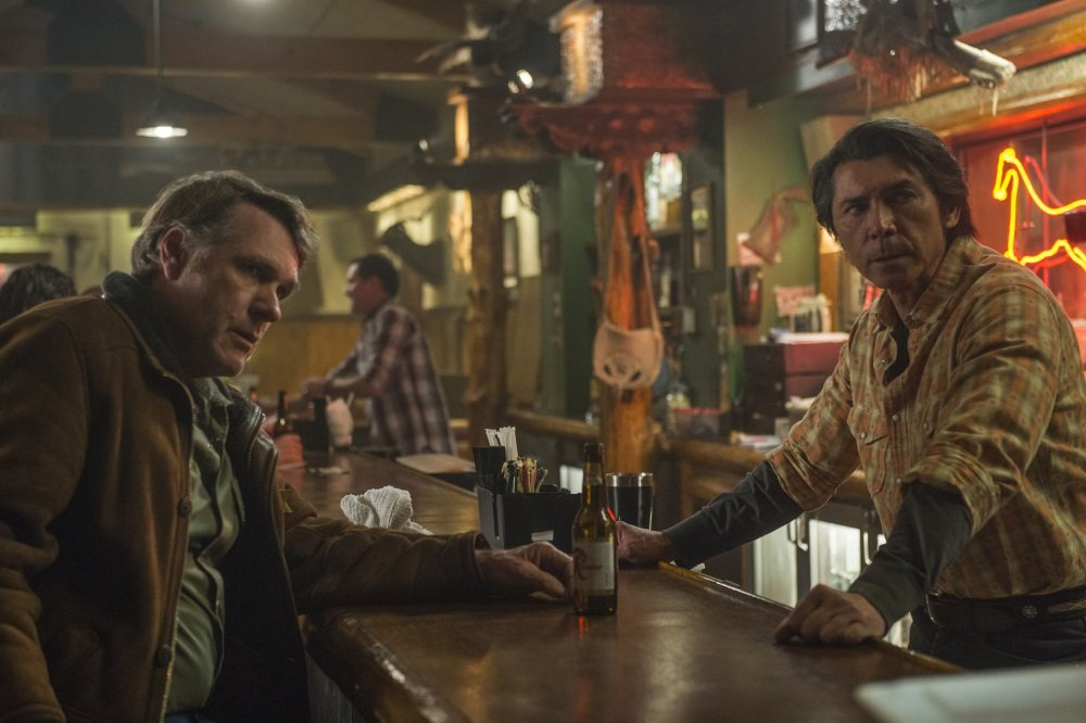 "Robert Taylor, Lou Diamond Phillips in the Netflix Original Series ""Longmire"". Photo Credit: Lewis Jacob/Netflix"