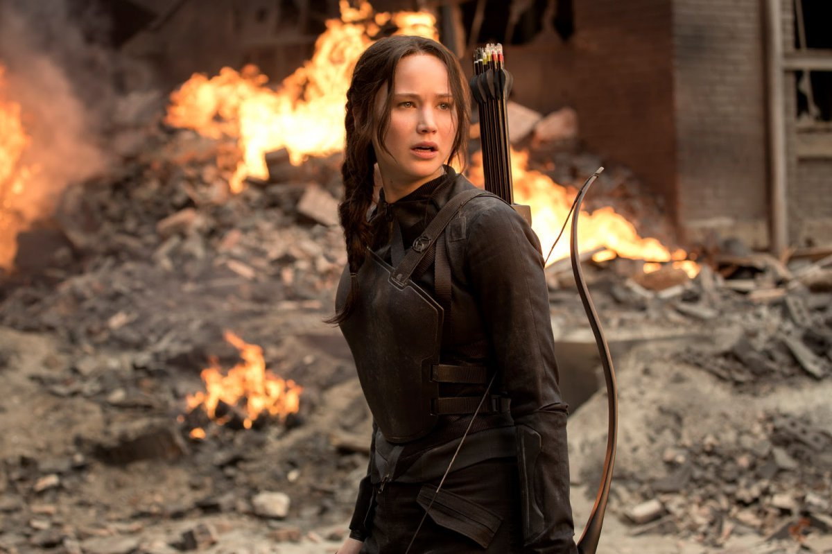 Jennifer Lawrence in 'The Hunger Games: Mockingjay Part I'