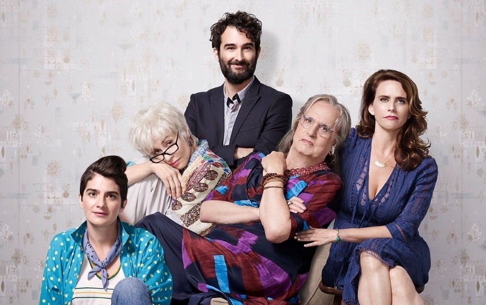 Gaby Hoffman, Judith LIght, Jay Duplass, Jeffrey Tambor and Amy Landecker in 'Transparent.'