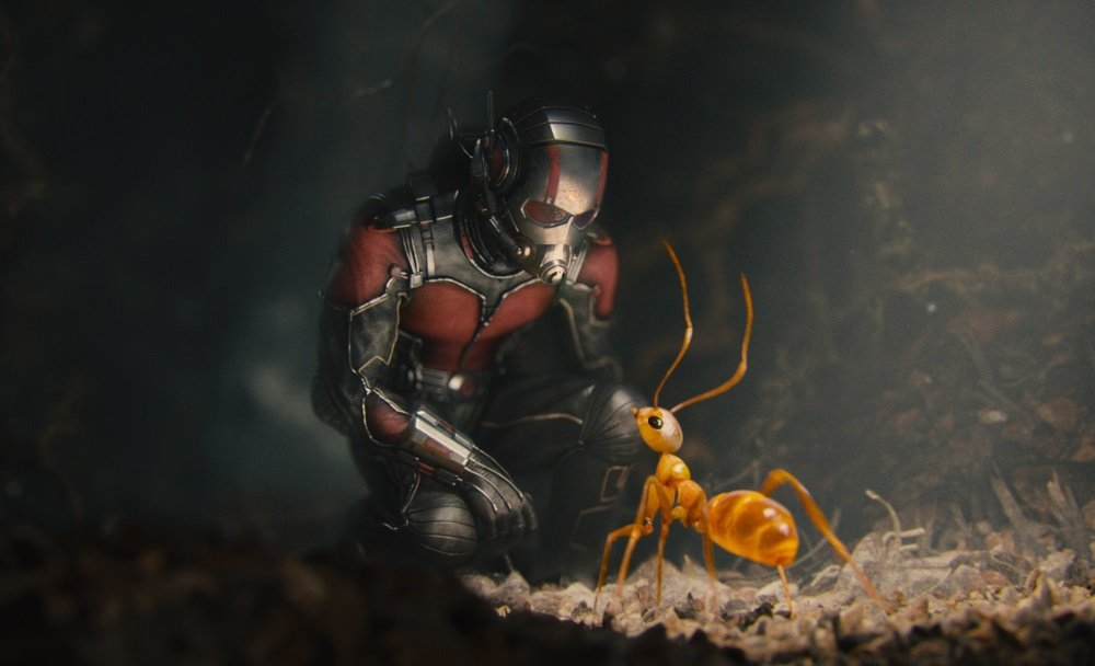 Paul Rudd is Scott Lang, aka Ant-Man. in the Marvel superhero movie directed by Peyton Reed.