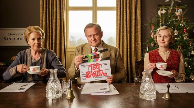 The 'Downton Abbey' annual Christmas video fundraiser. Don't forget to Text Santa.