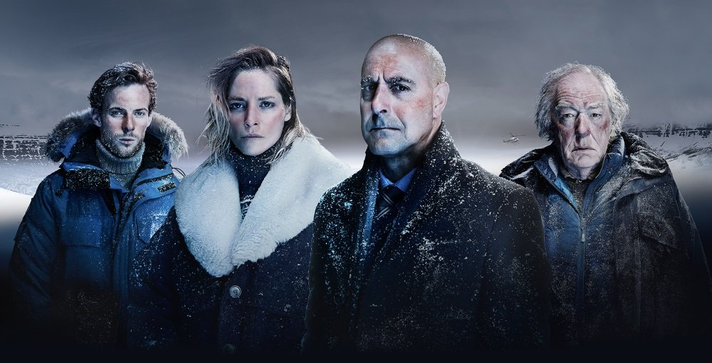 Richard Dormer, Sofie Gråbøl, Stanley Tucci, and Michael Gambon in 'Fortitude,' also starring Christopher Eccleston