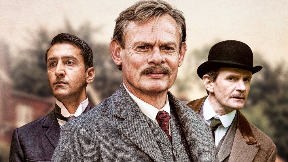 Arsher Ali, Martin Clunes, and Charles Edwards star on the BBC drama 'Arthur & George.'