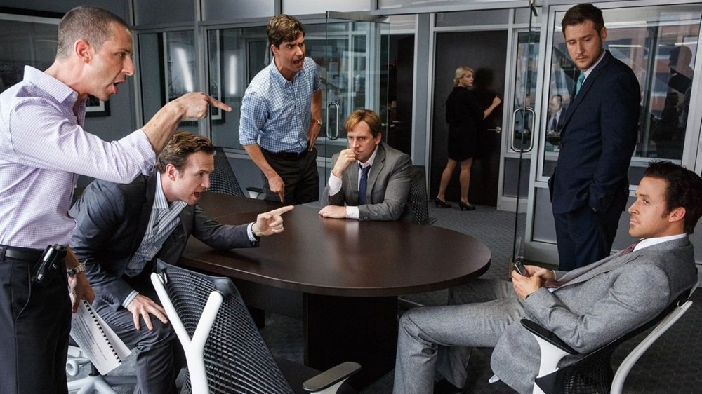 Steve Carell and Ryan Gosling in 'The Big Short,' directed by Adam McKay.