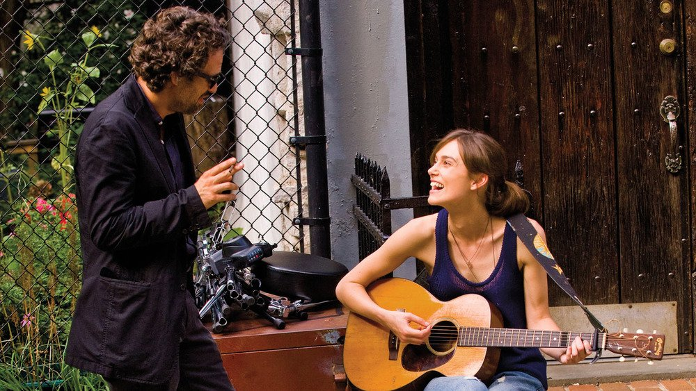 "Mark Ruffalo and Kiera Knightley in ""Begin Again."""