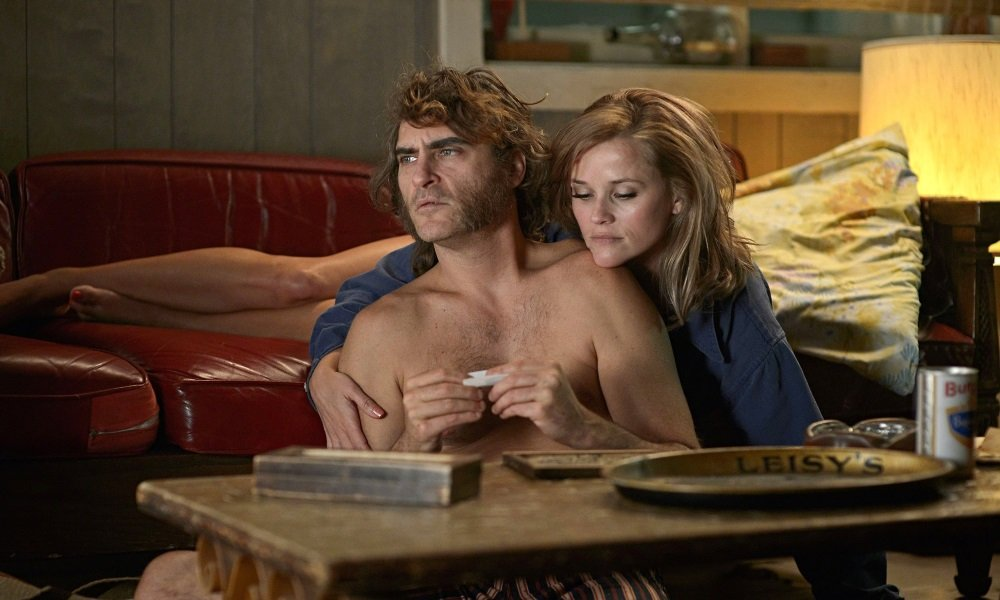 Joaquin Phoenix and Reese Witherspoon in 'Inherent Vice,' Paul Thomas Anderson's loopy take on Thomas Pynchon's dope-infused private eye novel.
