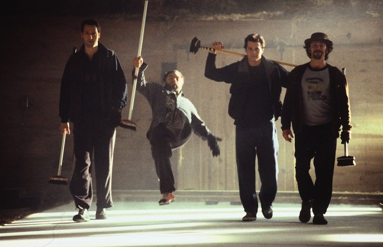 Paul Gross and his team in 'Men With Brooms'