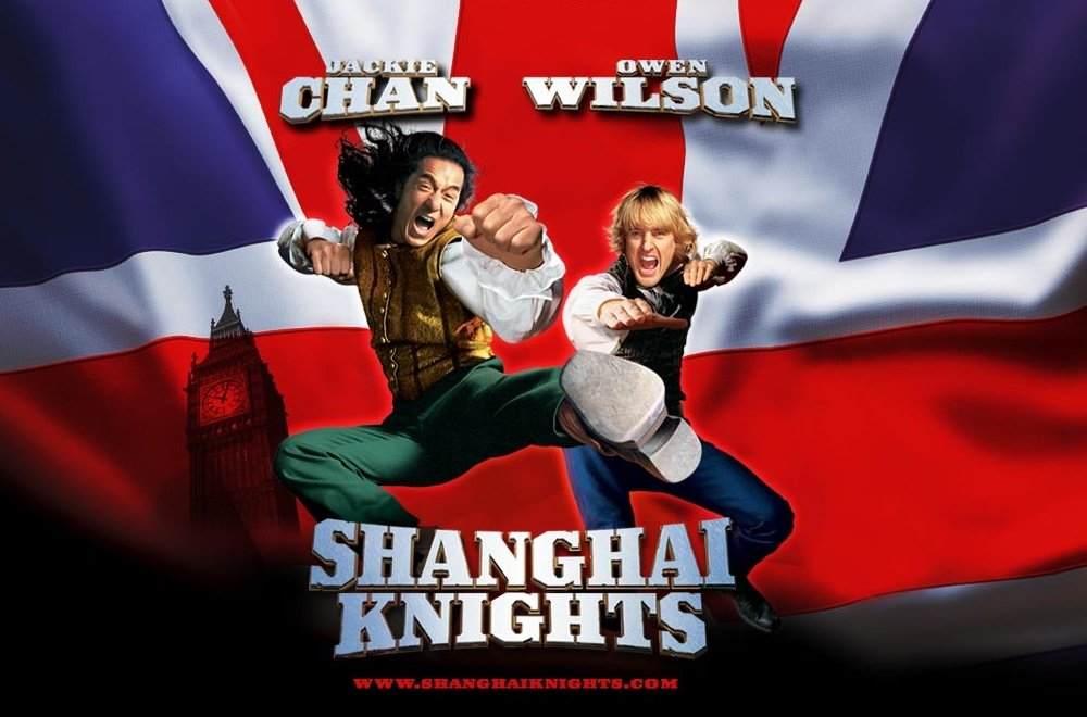 Jackie Chan and Owen Wilson star in the lightweight martial arts comedy 'Shanghai Knights,' which sends them to 19th century London.