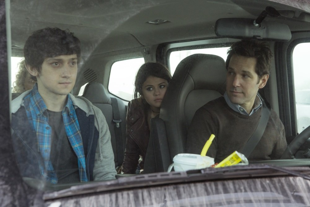 Paul Rudd, Selena Gomez, and Craig Roberts in 'The Fundamentals of Caring'