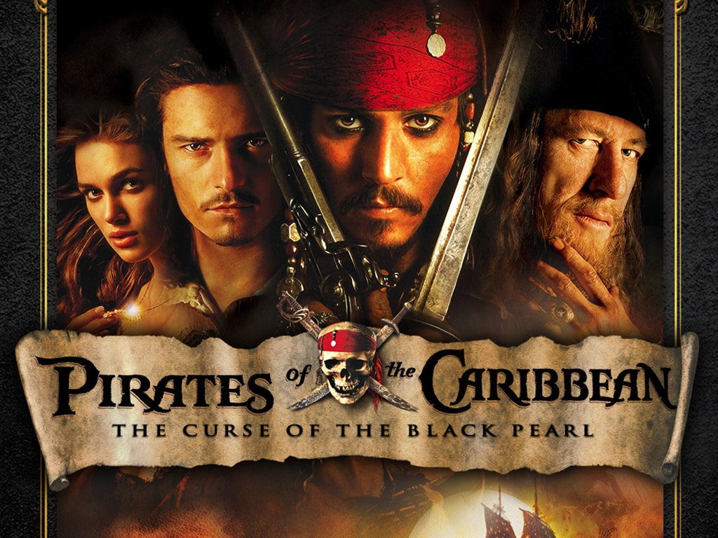Johnny Depp, Keira Knightley, Orlando Bloom, and Geoffrey Rush help transform a theme park ride into a blockbuster pirate movie.
