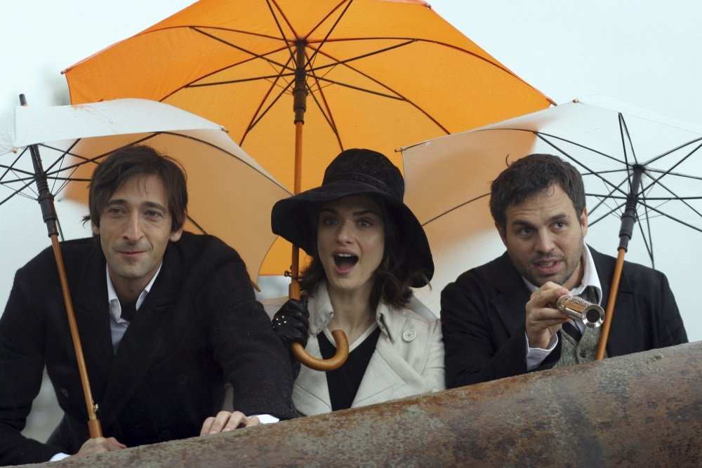 Adrien Brody, Rachel Weisz, and Mark Ruffalo in Rian Johnson's charming fantasy of a con movie 'The Brothers Bloom.'