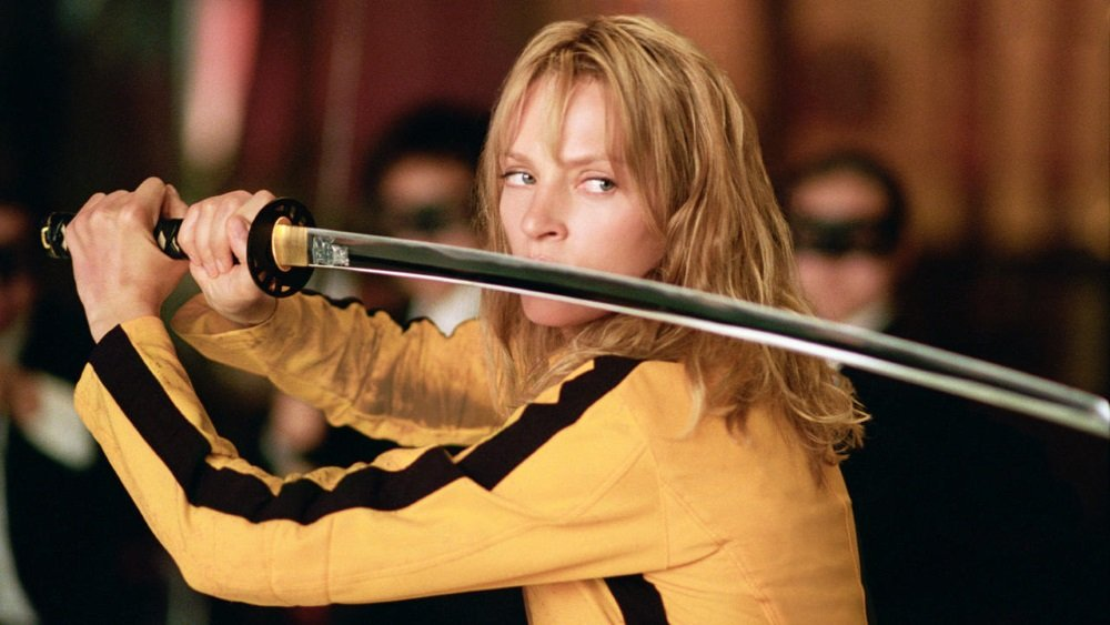 Uma Thurman is The Bride in Quentin Tarantino's 'Kill Bill.'