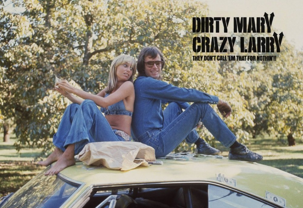 Susan George and Peter Fonda are 'Dirty Mary Crazy Larry' in the cult action crime film.