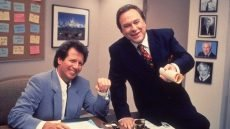 Garry Shandling and Rip Torn in 'The Larry Sanders Show'