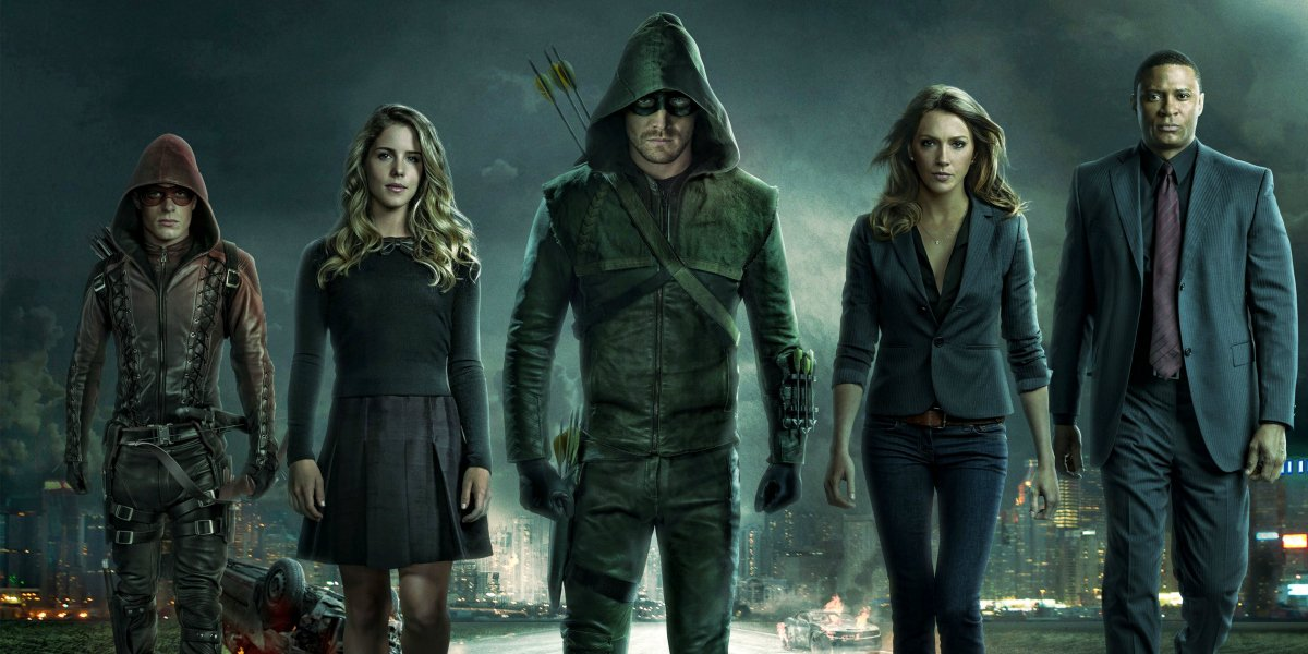 Stephen Amell and the cast of the CW series 'Arrow'