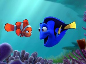 "The aquatic stars of Pixar's ""Finding Dory."""