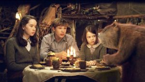 "Anna Popplewell, William Moseley, and Georgie Henley in ""The Chronicles of Narnia: The Lion, the Witch and the Wardrobe."""