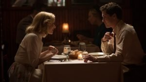 Sarah Gadon and Logan Lerman in James Schamus's adaptation of Philip Roth's novel 'Indignation'