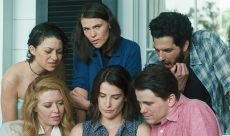 "Alia Shawkat, Clea DuVall, Ben Schwartz, Jason Ritter, Cobie Smulders, and Natasha Lyonne in ""The Intervention."""