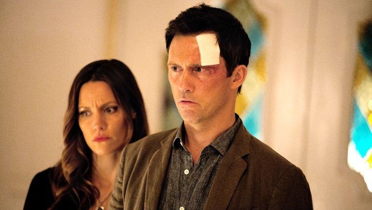 Jeffrey Donovan and KaDee Strickland in Hulu's 'Shut Eye'
