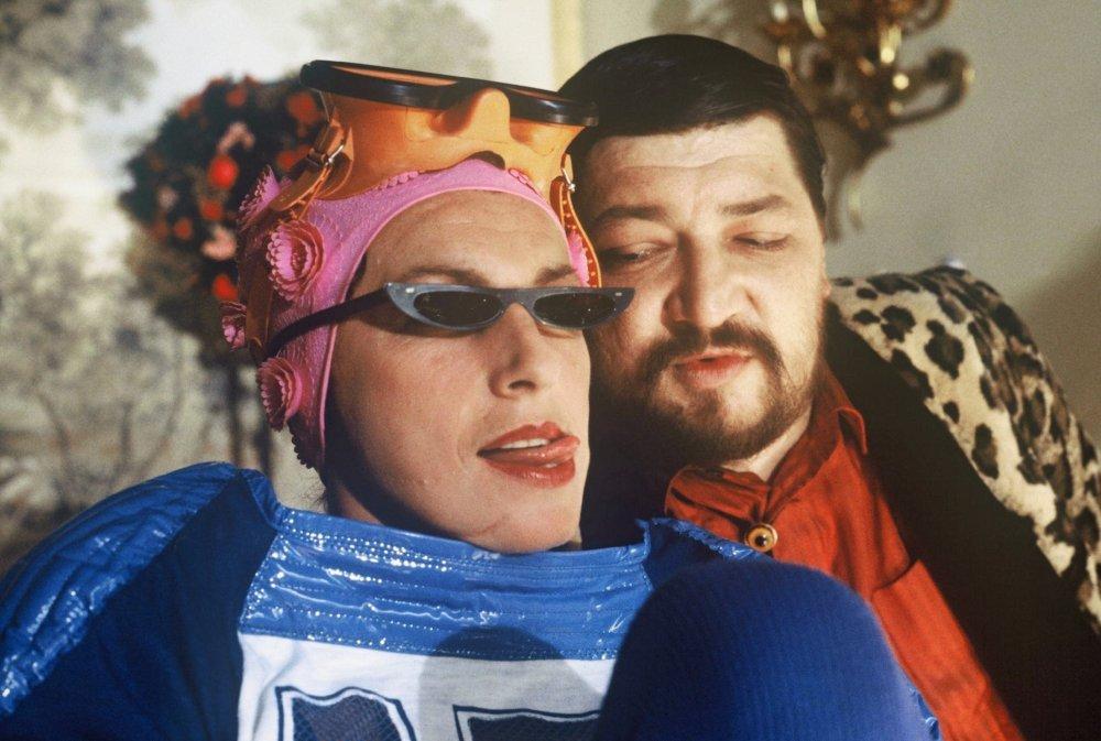 """Nicole Heesters and Rainer Werner Fassbinder in Wolfgang Kremm's """"Kamikaze '89"""""""