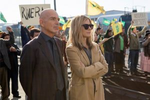 Sandra Bullock and Billy Bob Thornton in Our Brand is Crisis, directed by David Gordon Green