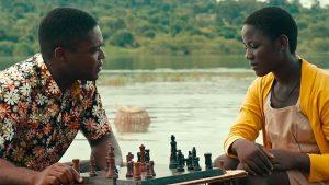 "David Oyelowo and Madina Nalwanga in Disney's ""Queen of Katwe."""