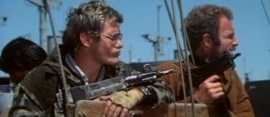 James Caan, Robert Duvall, and Bo Hopkins in the Sam Peckinpah film