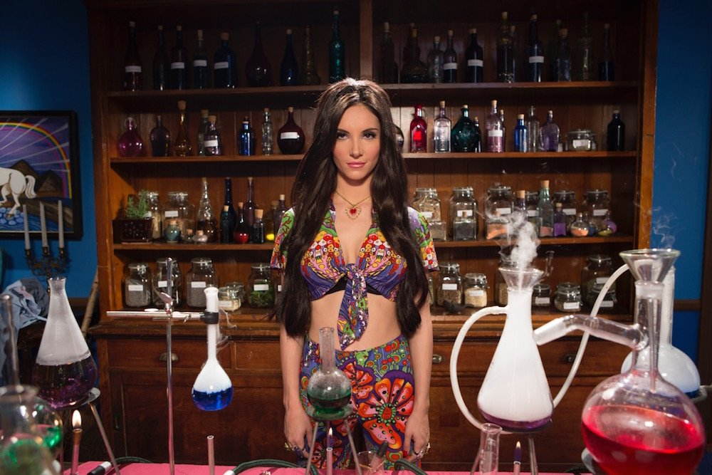 Samantha Robinson is The Love Witch in Anna Biller's retro-styled feminist / horror / fantasy / melodrama