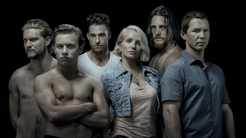 Ellen Barkin and her boys Scott Speedman, Shawn Hatosy, Ben Robson, Jake Weary, and Finn Cole