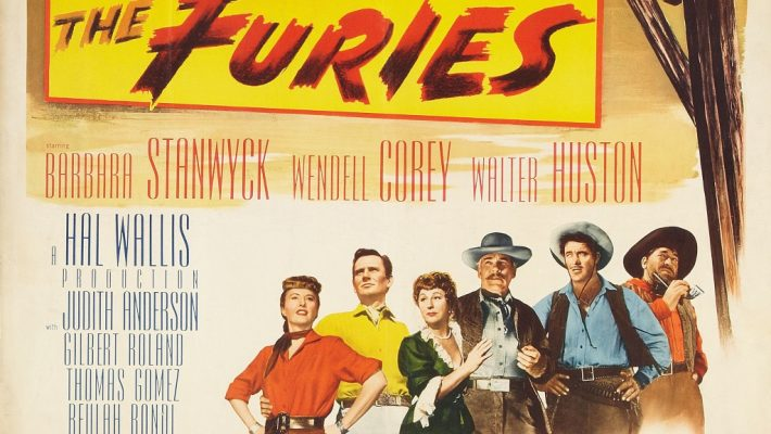 Barbara Stanwyck, Wendell Corey and Walter Huston star in Anthony Mann's western