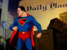 The animated Superman from Max and Dave Fleischer