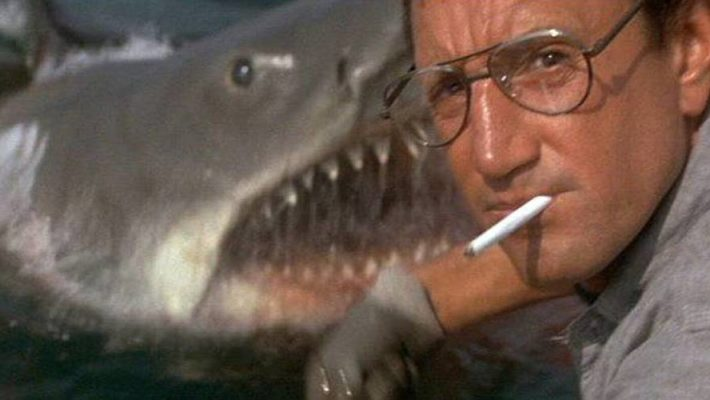 Roy Scheider, Richard Dreyfus, and Robert Shaw star in Steven Spielberg's summer blockbuster