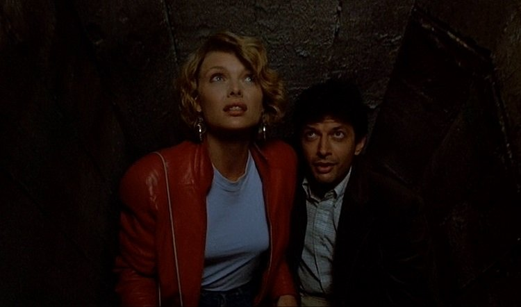 Jeff Goldblum and Michelle Pfeiffer star in the neon noir from John Landis