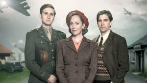 Aaron Staton, Hattie Morahan, and Owen McDonnell in the BBC homefront drama