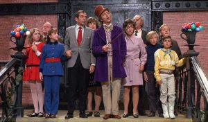 Gene Wilder is Willy Wonka in the musical adaptation of the Roald Dahl novel