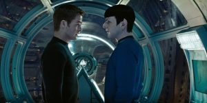 Chris Pine and Zachary Quinto in the J.J. Abrams revival of the original Enterprise crew