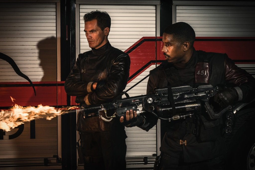 Michael Shannon and Michael B. Jordan in the 2018 adaptation of the Ray Bradbury novel