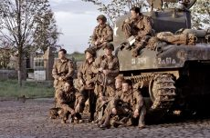 Donnie Wahlberg, Neil McDonough, and the men of Easy Company in the miniseries from Steven Spielberg and Tom Hanks