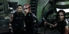 Cung Le, Ben Foster, Antje Traue in the science fiction horror film co-starring Dennis Quaid, directed by Christian Alvart