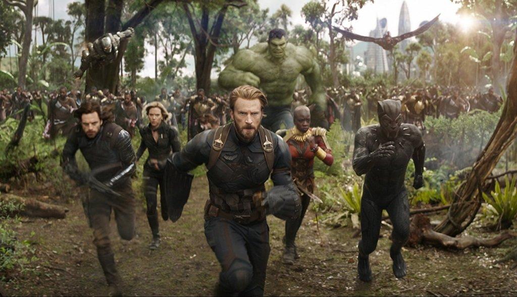 Sebastian Stan, Scarlett Johansson, Chris Evans, Danai Gurira, and Chadwick Boseman in comic book epic from Marvel Studios